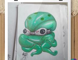 portofolio ilustrasi gurita