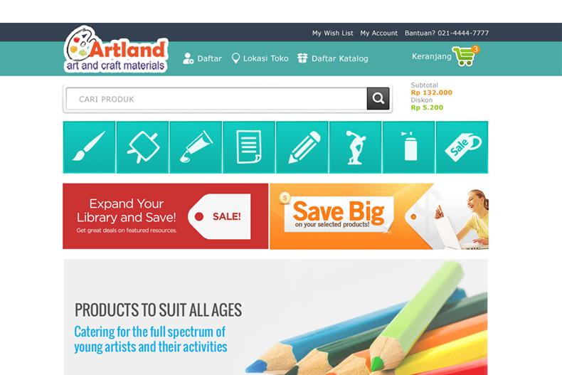 testimonial jasa pembuatan website artland