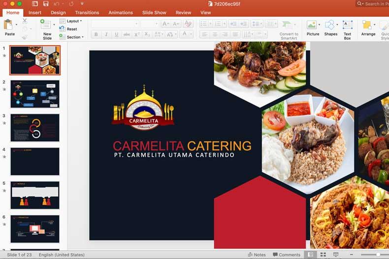 testimonial jasa pembuatan presentasi catering