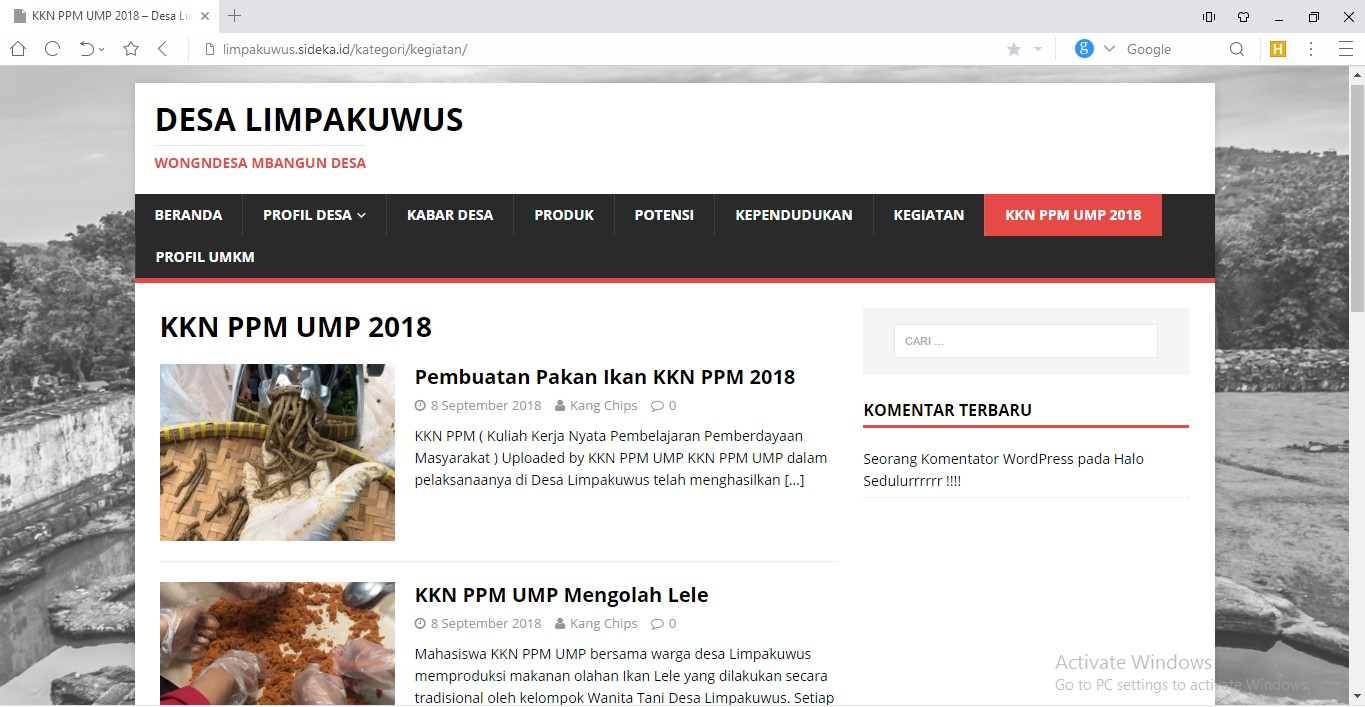 Website Desa Limpakuwus