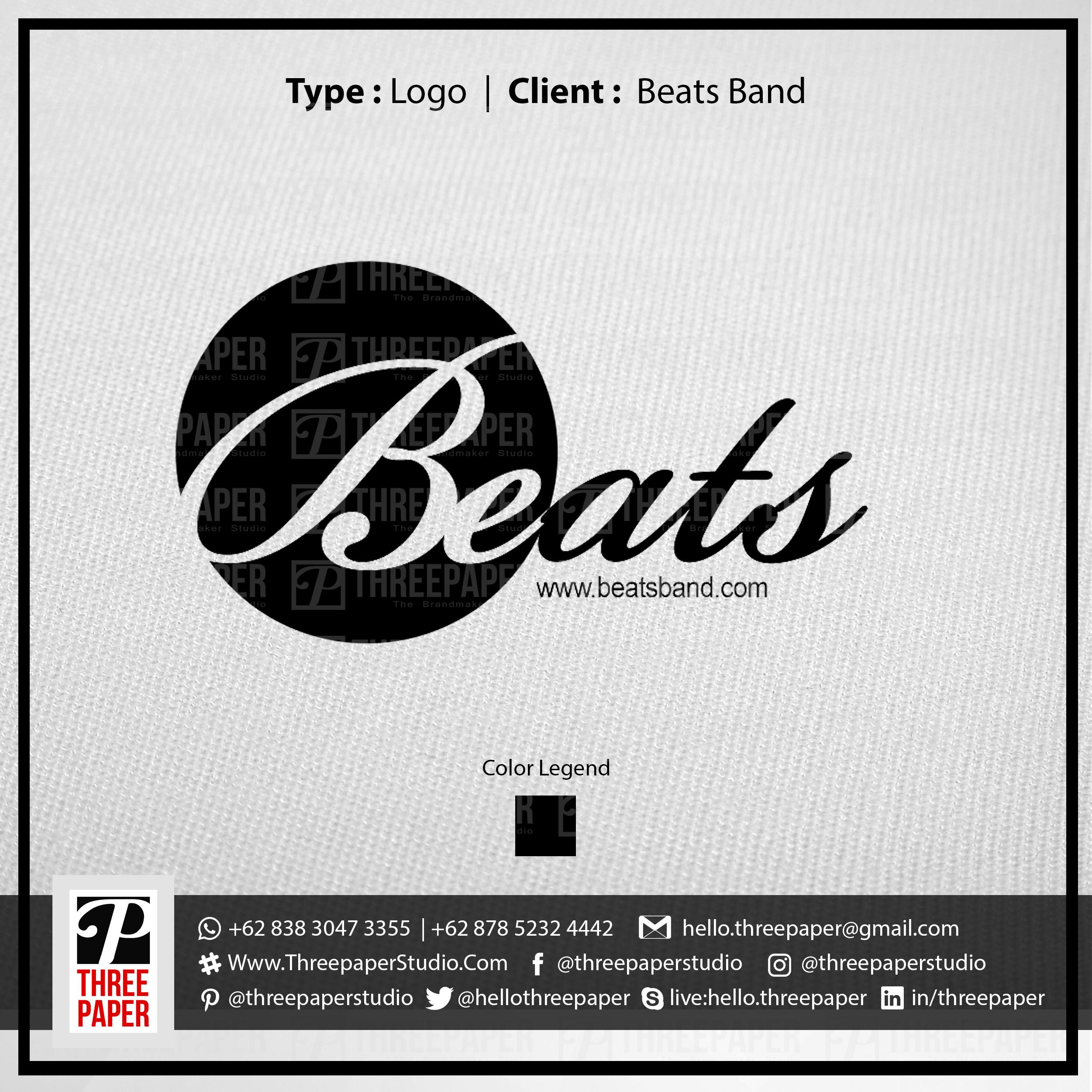 Logo beats band threepaper studio ce328f844e