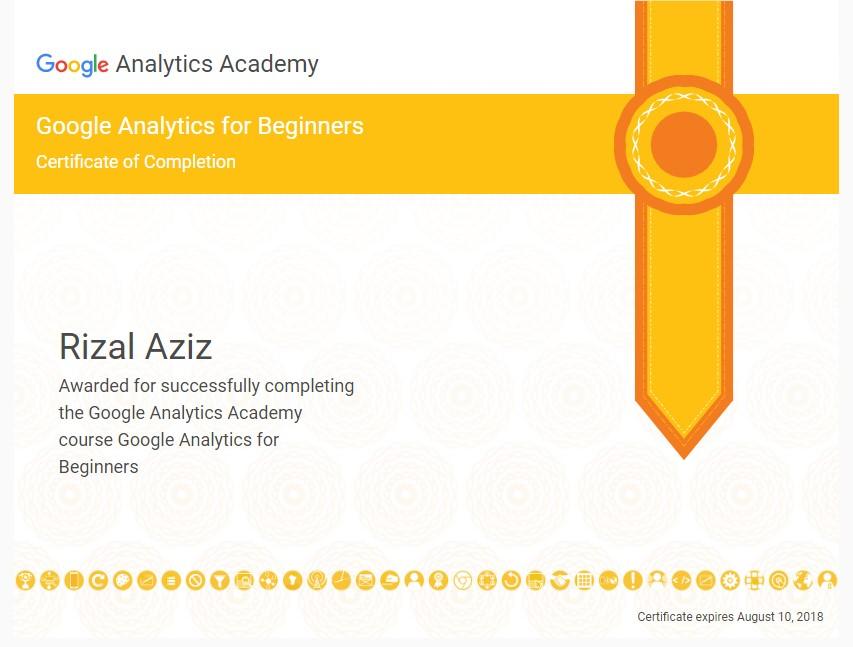 Google analytics certificate d1054169ff