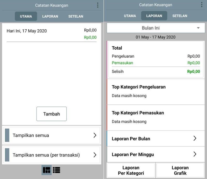 Fitur Aplikasi Catatan Keuangan Harian